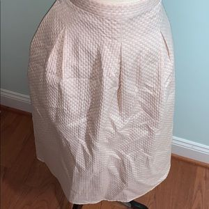 Pink, cream, gold H&M pleated waist skirt, US 14
